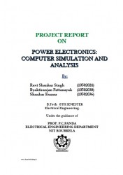دانلود رایگان پروژه  (PROJECT REPORT ON POWER ELECTRONICS COMPUTER SIMULATION AND ANALYSIS (Ravi Shankar Singh