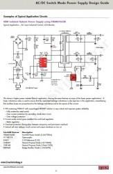 شماتیک مدار منبع تغذیه سوئیچینگ فلای بک 40 وات (Fairchild)