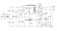 شماتیک مدار منبع تغذیه سوئیچینگ فلای بک Tiny Switch) 24V – 0/5A)
