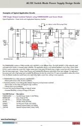 شماتیک منبع تغذیه سوئیچینگ فلای بک Fairchild  5V – 2A